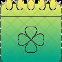 St Patricks Day Saint Patrick Calendar Icon