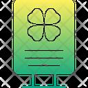 St Patricks Poster St Patricks Banner St Patricks Board Icon