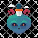 Stabbed skull Icon