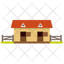 Stable Countryside Wooden Icon