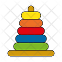 Stack Stacking Toy Icon