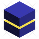 Stack Geometric Cube Icon