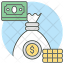 Stack Of Money Money Bag Money Sack Icon