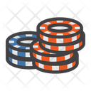 Stack of poker chips Icon
