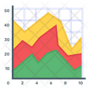 Stacked Area Chart Icon
