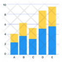 Stacked Bar Graph Icon