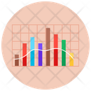 Stacked Column Chart Statistics Infographic Icon
