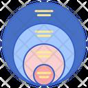 Stacked Venn Icon