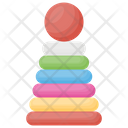 Stacking Rings Rock A Stack Colorful Rings Icon