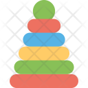 Stacking Toy Colorful Icon
