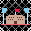 Stadium Football Construction Icon