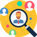 Staff Search Magnifier Icon
