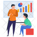 Staff Training Graph Presentation Employee Workshop Icon