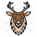 Stag Mascot Stag Face Cervidae Face Icon