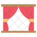 Stage Window Curtains Icon