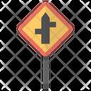 Crossroad Sign Road Icon