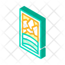 Stained Glass Isometric Icon
