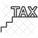 Staircase Tax Tariff Tax Payable Icon