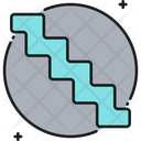 Stairs Waterfall Project Management Icon