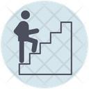 Business Stairs Successful Icon
