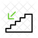 Stairs Down Stairs Ladder Icon
