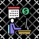 Online Businessman Businessman Trading Icon