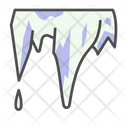 Winter Stalactite Cave Icon