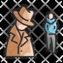 Stalking Suspect Stalking Criminal Icon