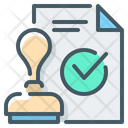 Approved Checkmark Document Icon