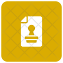 Stamp File Approved Icon