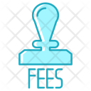 Stamp Cash Fees Icon