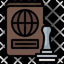 Stamp Passport Travel Icon