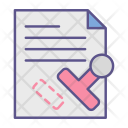 Stamp Seal Document Icon