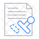 Stamp Seal Paper Icon