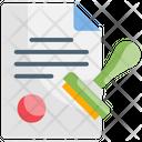 Stamp Business Declaration Icon