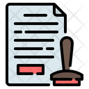 Stamp Legal Document Icon