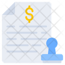 Stamp Document Financial Document Financial Paper Icon