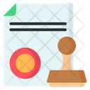 Stamp Document Stamp Paper Stamp Doc Icon