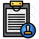Stamp Document Icon