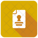 Stamp File File Approved Icon