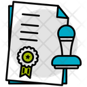 Stamp Paper Documents Icon