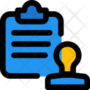 Stamp Paper Stamp Document Agreement Icon