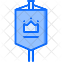 Standard Flag Crown Icon