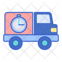 Standard Shipping Ontime Delivery Delivery Truck Icon