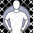 Standing Akimbo Hand On Waist Icon