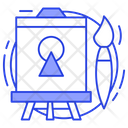 Standing Easel Icon