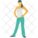 Standing Girl Icon