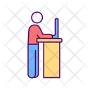 Office Workstation Stand Icon