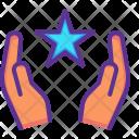 Star Hands Religion Icon