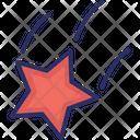Astronomy Falling Star Night Icon